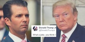 Don Jr and Trump